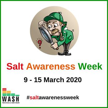 La settimana mondiale per la riduzione del sale 09-15 marzo 2020